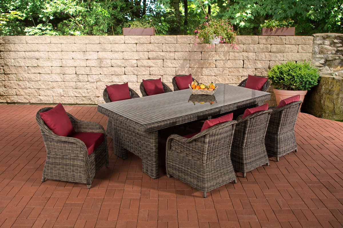 sitzgruppe candela xl grau meliert gartengarnitur polyrattan gartenm bel set neu ebay. Black Bedroom Furniture Sets. Home Design Ideas