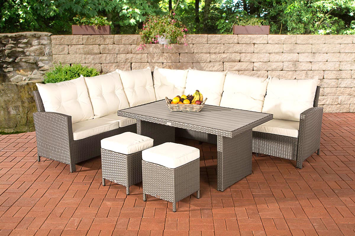 polyrattan gartengarnitur vicenta garten sitzgruppe gartenm bel set essgruppe ebay. Black Bedroom Furniture Sets. Home Design Ideas