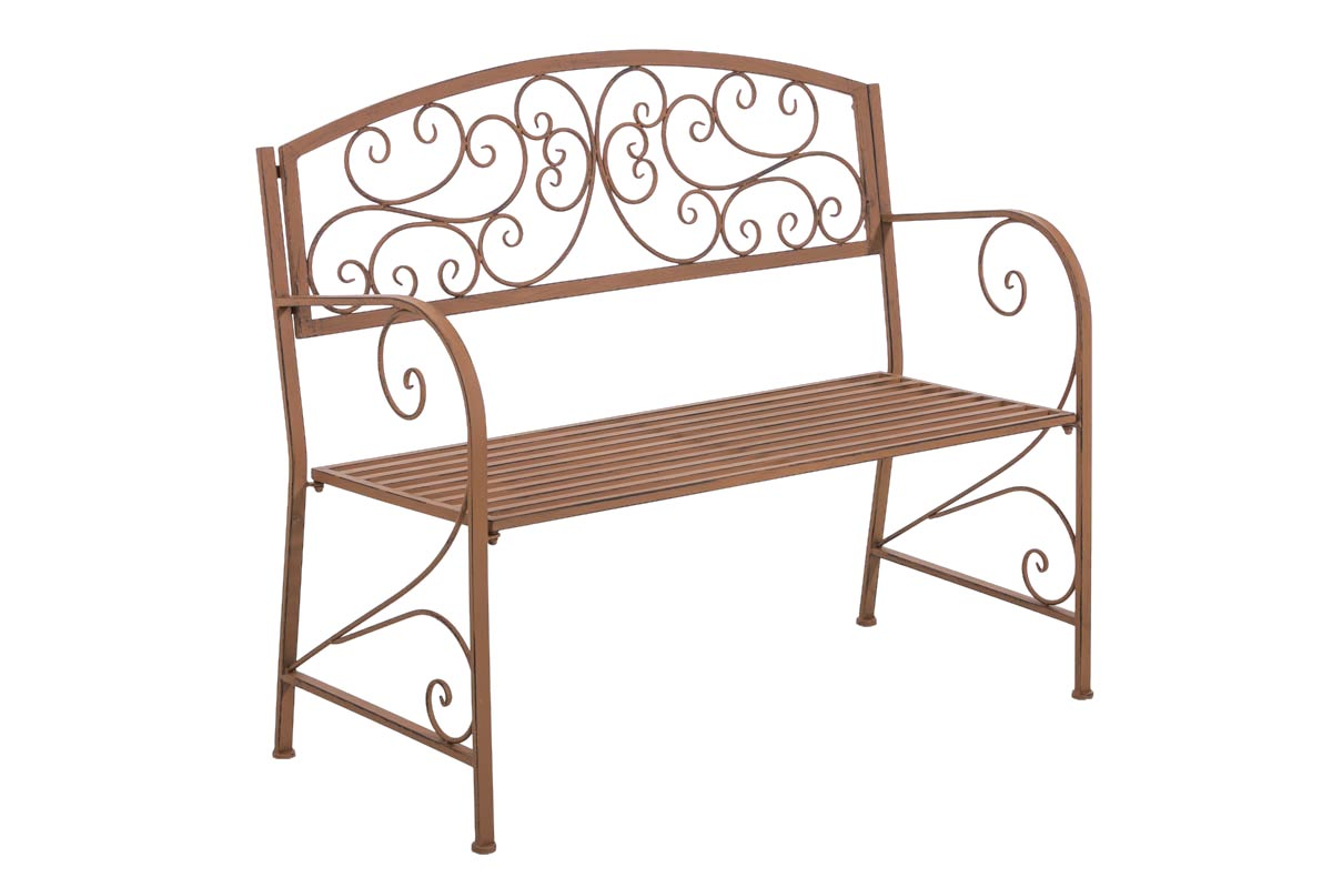 Garden Bench Azad Iron Shabby Metal Seat Antique Bronze