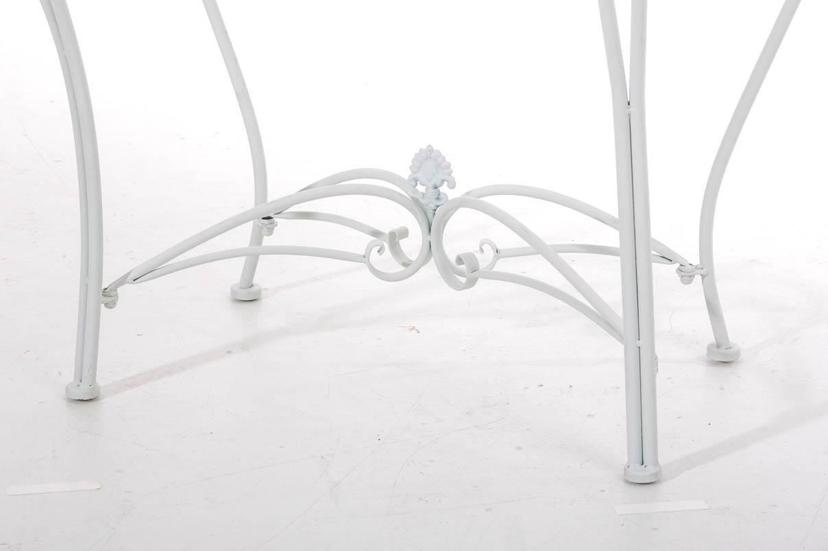 hbm23894 blumentisch sorana wei pflanztisch metalltisch blumenst nder b ware ebay. Black Bedroom Furniture Sets. Home Design Ideas