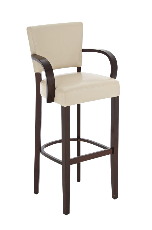 bar stool lionel with armrests rubber wood modern barstool kitchen counter seat ebay. Black Bedroom Furniture Sets. Home Design Ideas