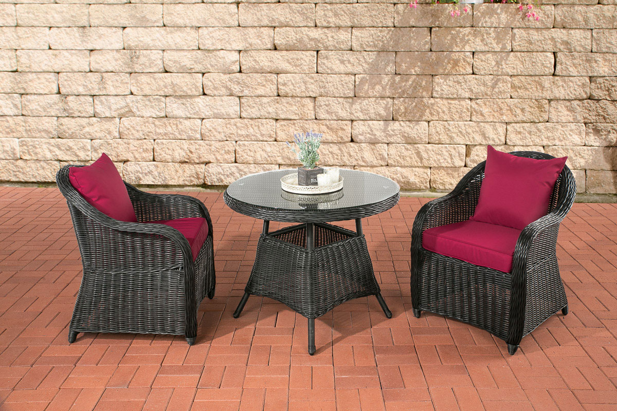 garten sitzgruppe balao terrasse polyrattan gartenm bel tisch und stuhlset ebay. Black Bedroom Furniture Sets. Home Design Ideas