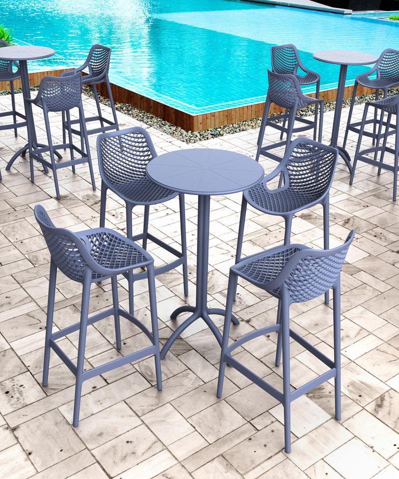 stehtisch octopus 60cm bartisch bistrotisch empfangtisch outdoor gastrogeeignet ebay. Black Bedroom Furniture Sets. Home Design Ideas