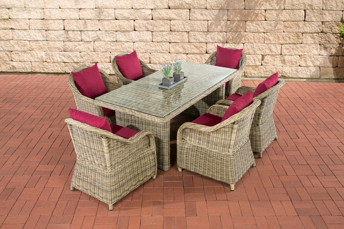6personen essgruppe lavello stuhl tischset gartengarnitur for Gartengarnitur polyrattan