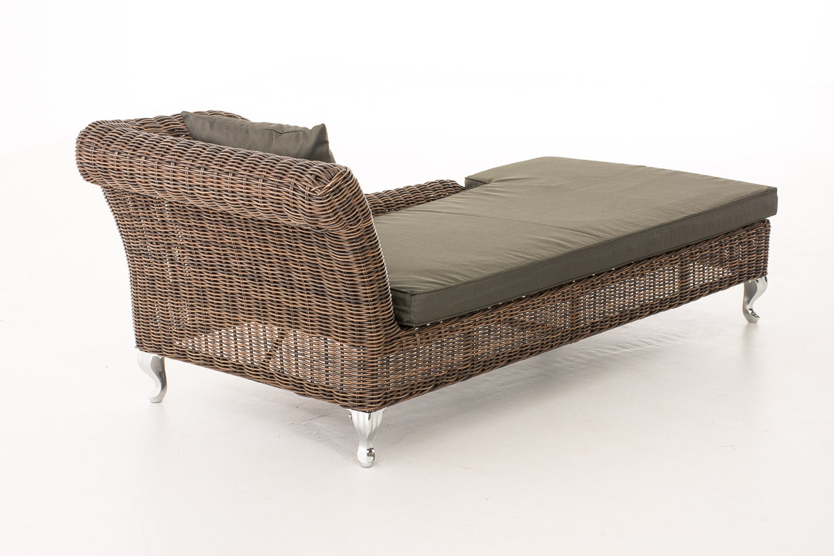 poly rattan chaise longue recamiere savannah 5mm rund. Black Bedroom Furniture Sets. Home Design Ideas