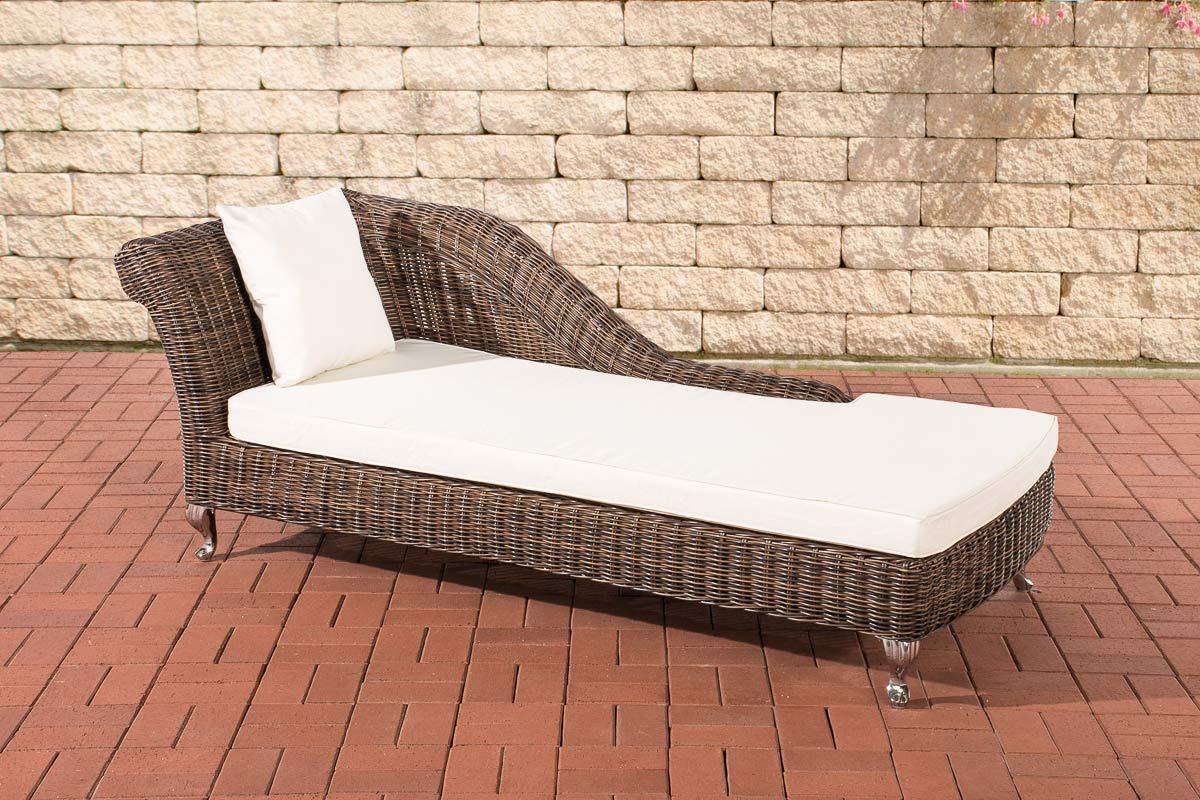 polyrattan relaxliege savannah 5mm rund rattan liege gartenliege braun ebay. Black Bedroom Furniture Sets. Home Design Ideas