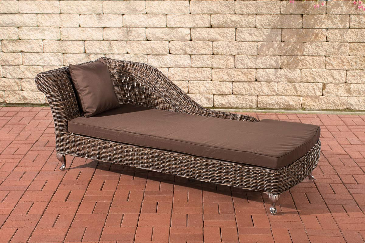 polyrattan relaxliege savannah 5mm rund rattan liege gartenliege braun ebay. Black Bedroom Furniture Sets. Home Design Ideas