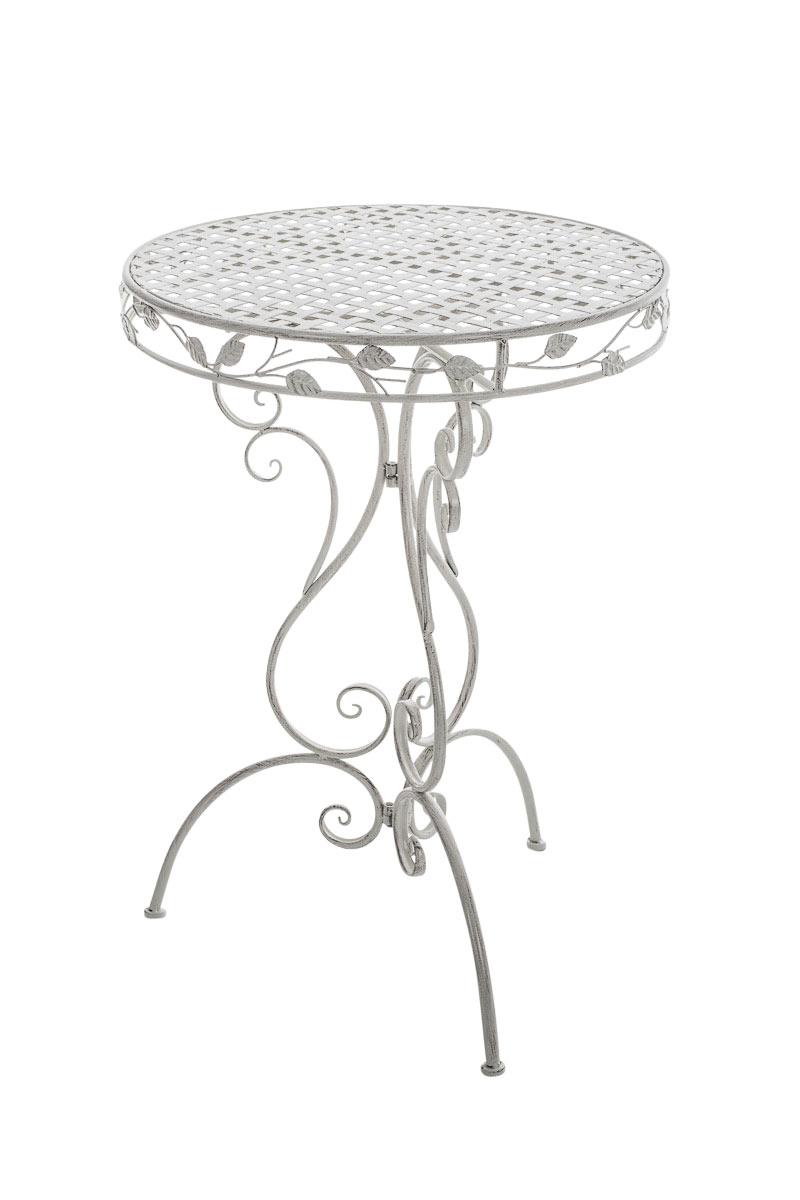 Table jardin ALDORA ronde romantique ancienne métal vintage terrasse ...