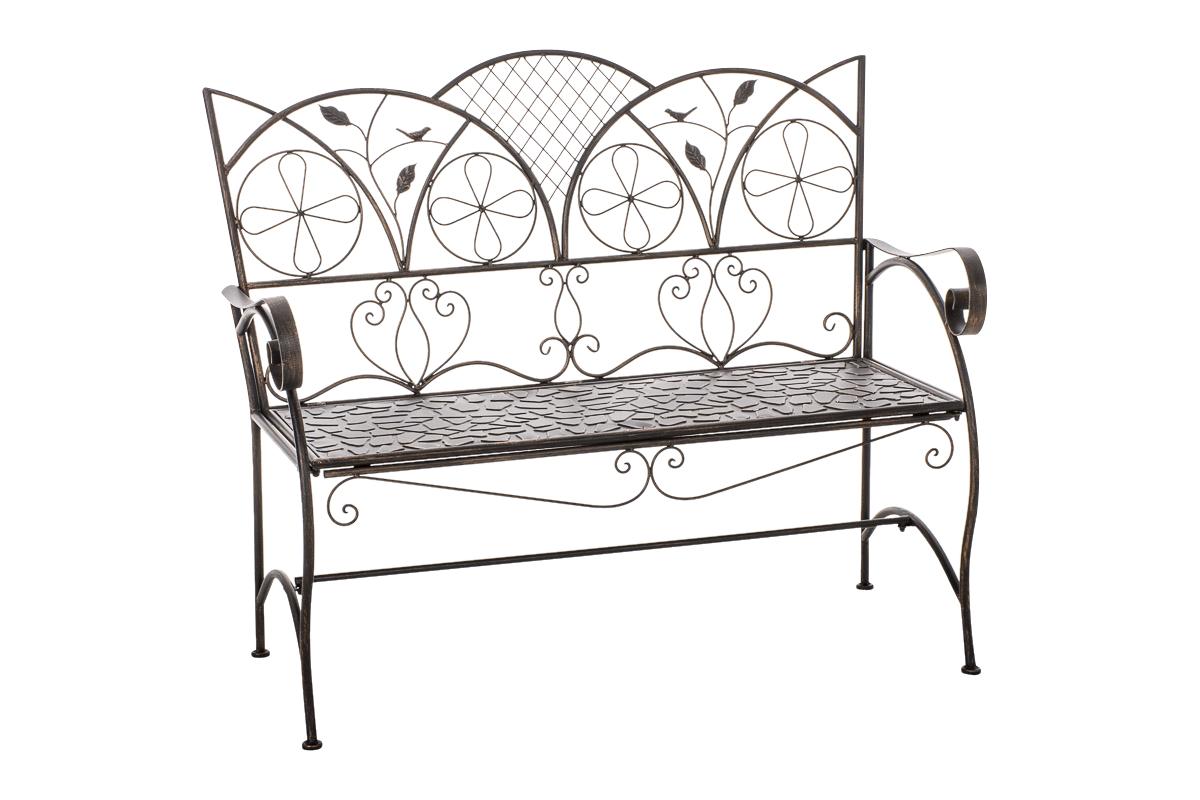 gartenbank rief eisenbank gartenm bel sitzbank landhausstil metall eisen ebay. Black Bedroom Furniture Sets. Home Design Ideas
