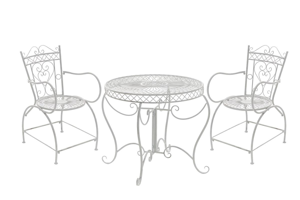 Salon jardin SHEELA table ronde romantique métal ancienne vintage ...