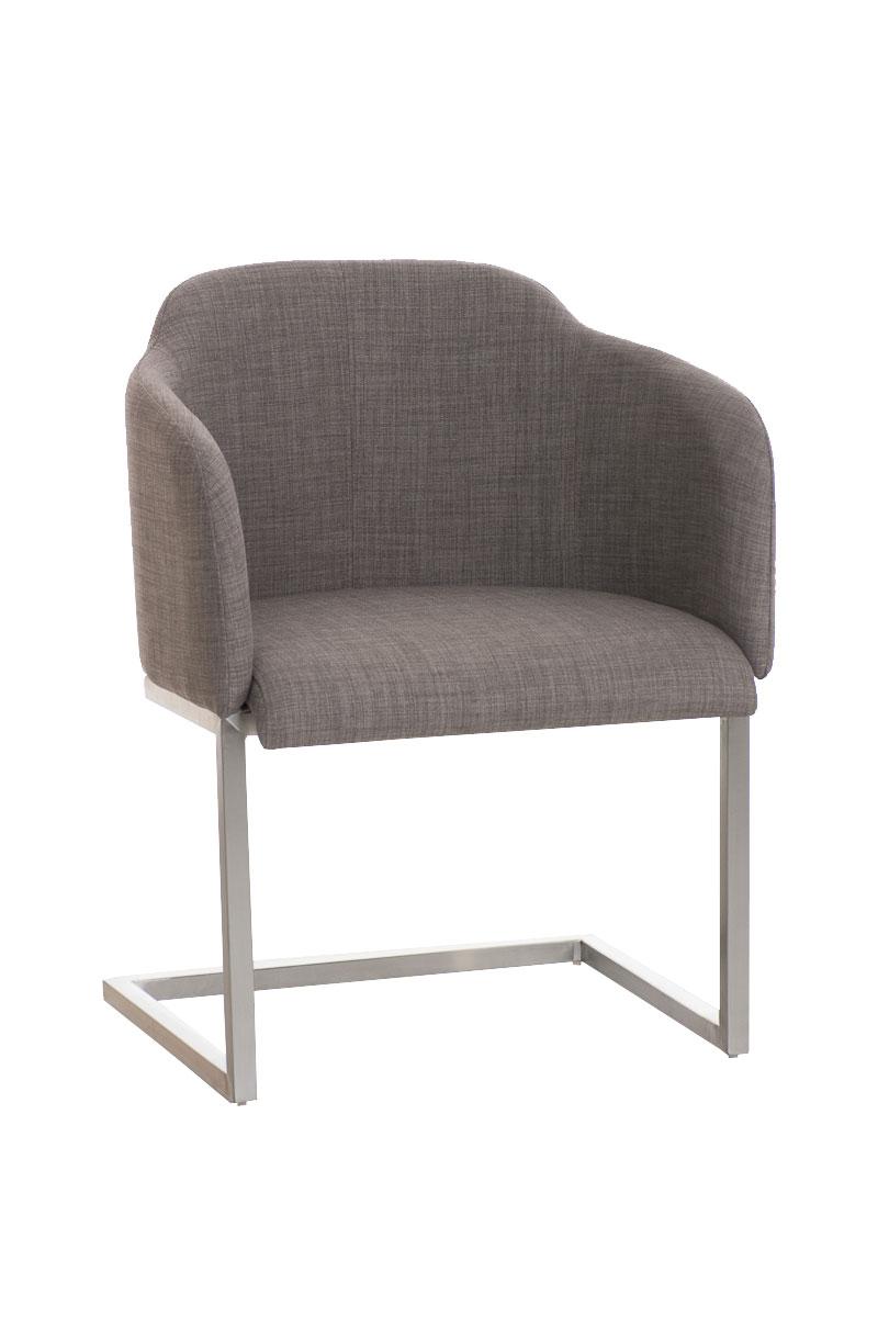 chaise salon magnus fauteuil tissu luge acier accoudoirs design visiteur neuf ebay. Black Bedroom Furniture Sets. Home Design Ideas