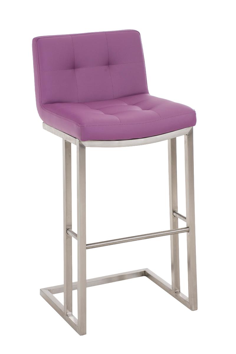 barhocker carlton e78 mit lehne kunstleder edelstahl tresenhocker theke barm bel ebay. Black Bedroom Furniture Sets. Home Design Ideas