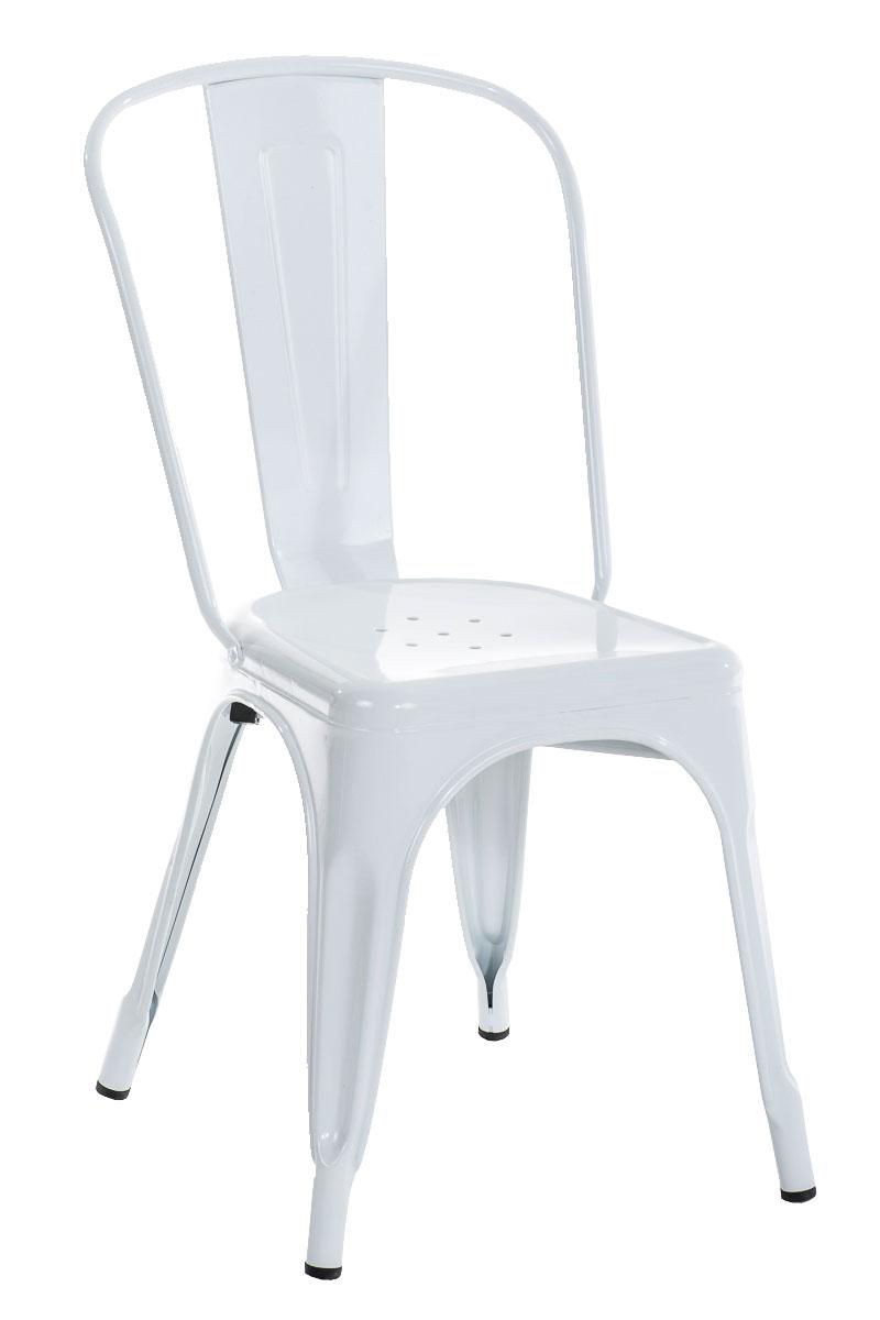Esszimmerstuhl Cp579 Stuhl Lehnstuhl Metall 89x44x48cm Weiss