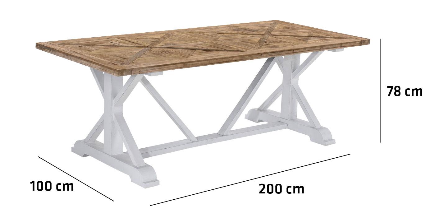 Esstisch ADAMO Tisch Driftwood Esszimmertisch Recycled Küchentisch ...