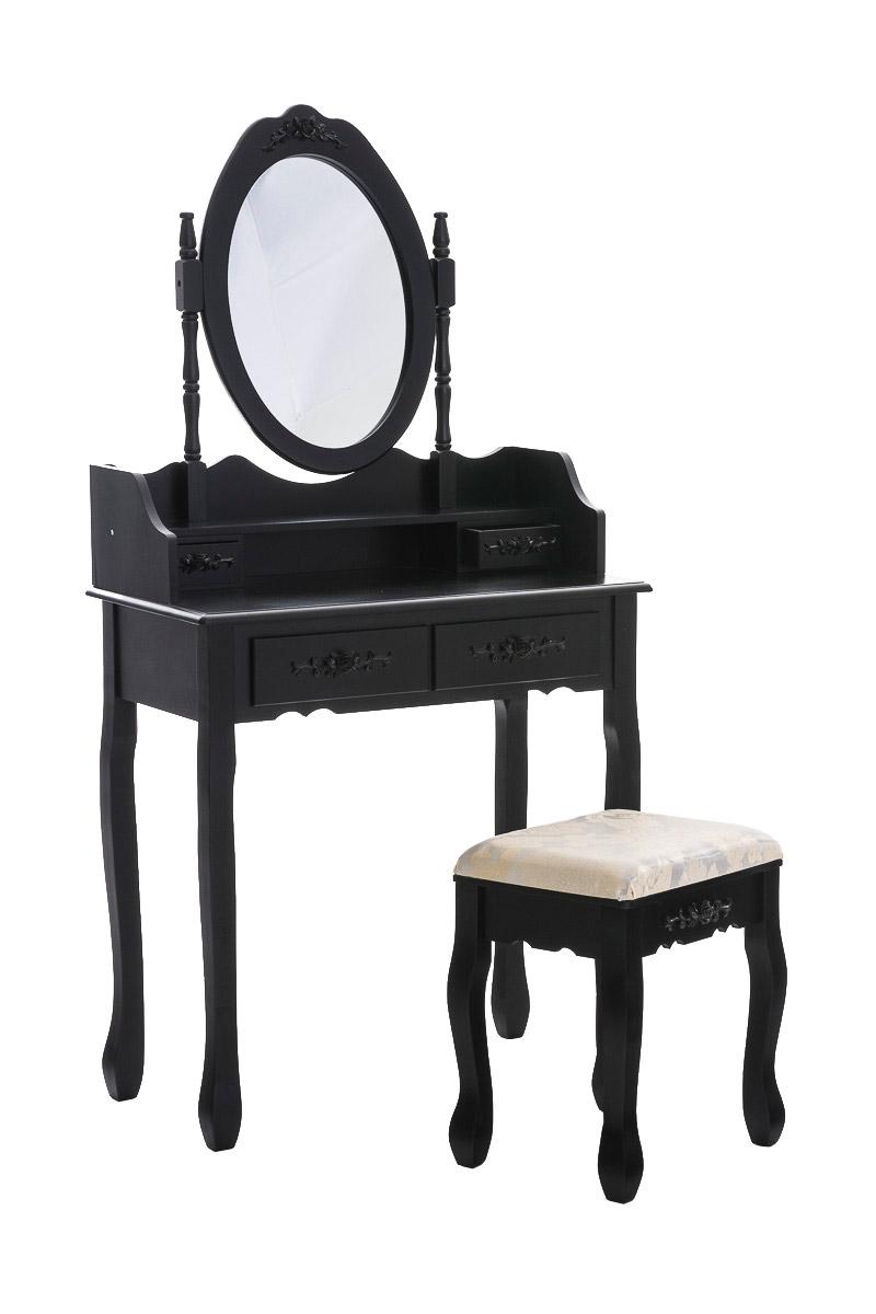 Schminktisch fuchsia kosmetiktisch hocker spiegel frisiertisch sekret r shabby ebay - Frisiertisch schwarz ...