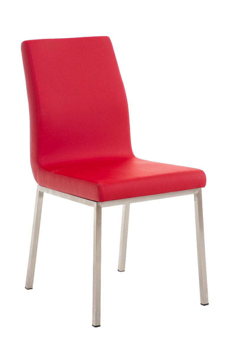 edelstahl esszimmerstuhl colmar mit lehne kunstleder polster k chenstuhl stuhl ebay. Black Bedroom Furniture Sets. Home Design Ideas