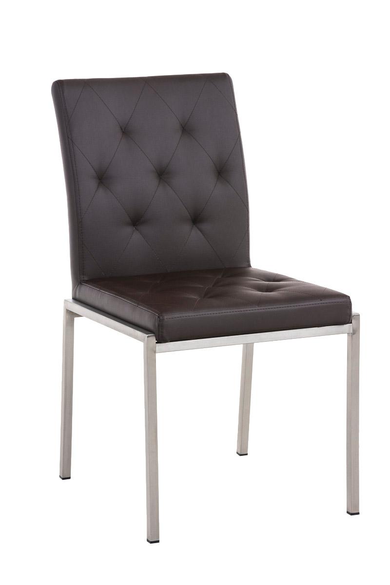 chaise visiteur charly similicuir fauteuil m tal salon cuisine bureau acier mat ebay. Black Bedroom Furniture Sets. Home Design Ideas
