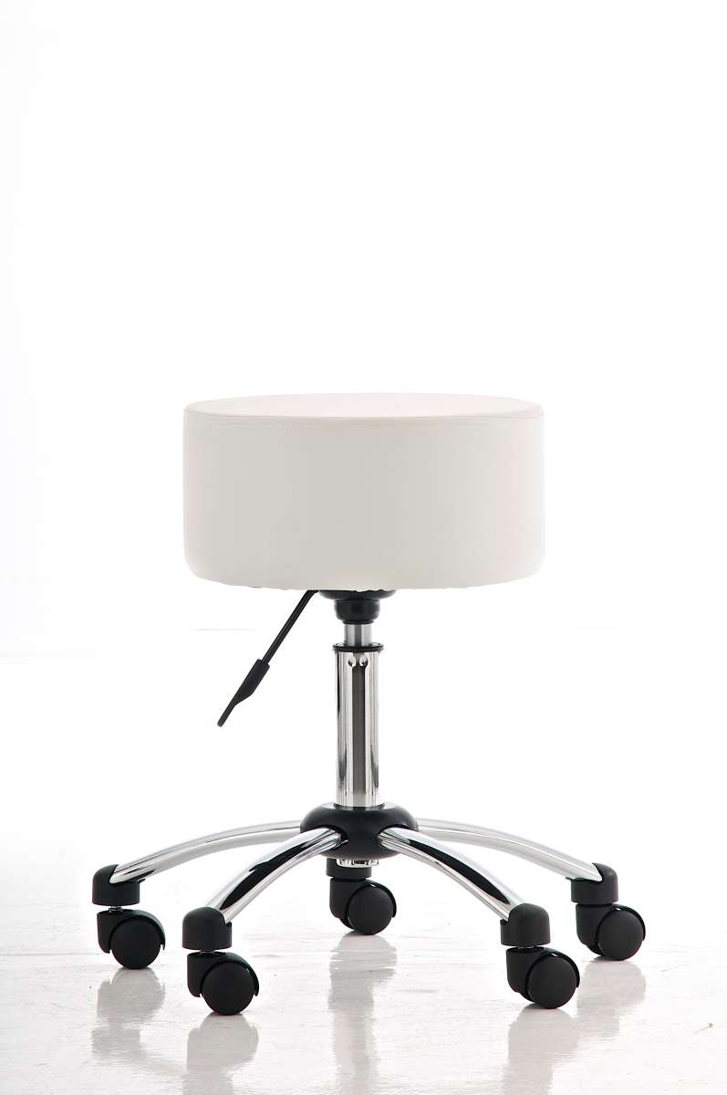 work stool vienna with wheels without backrest height adjustable roll stool white ebay. Black Bedroom Furniture Sets. Home Design Ideas