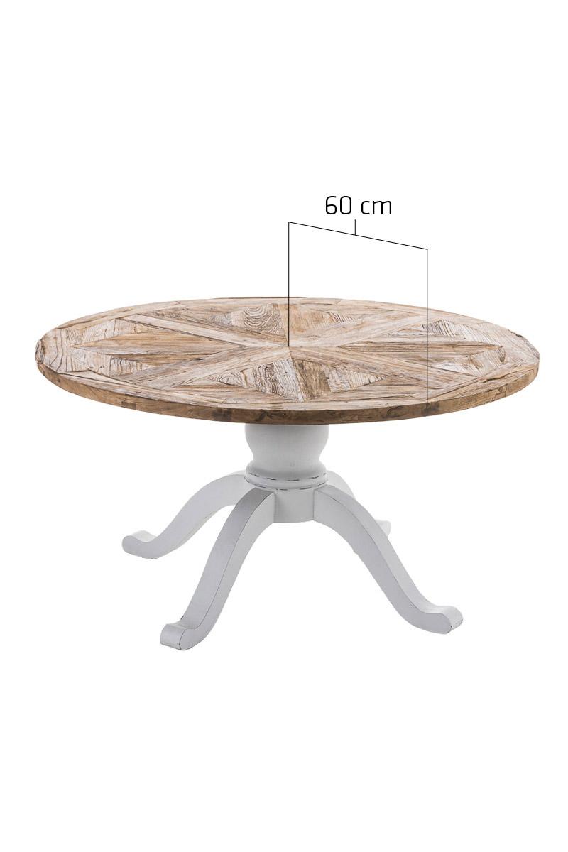 Esstisch FABIA Tisch Rund Esszimmertisch Recycled Küchentisch ...