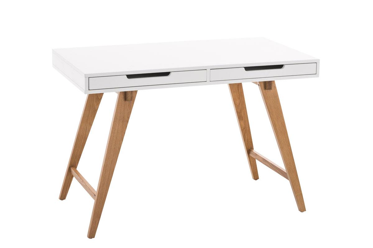 Computertisch holz  Schreibtisch PORTO weiß Bürotisch Eiche Sekretär Holz Tisch ...