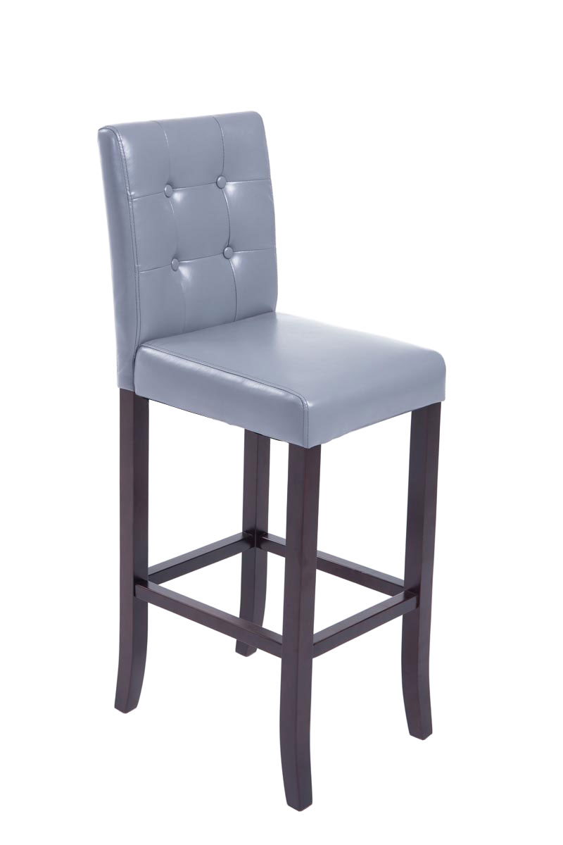 Bar Stool Burda Kitchen Counter Breakfast Stool Padded Faux Leather Wood Ebay