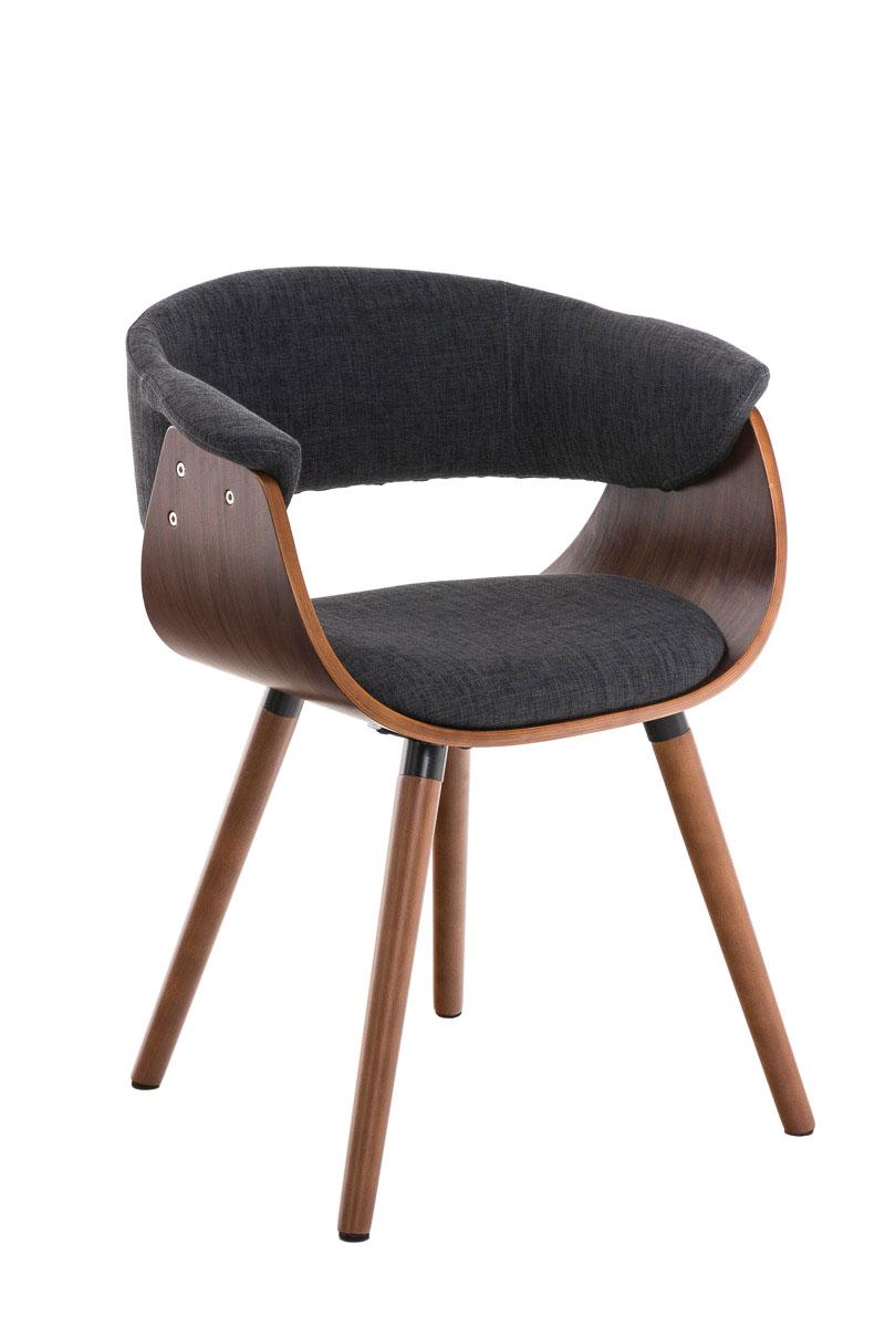 chaise de salle manger pirma fauteuil en tissu avec accoudoirs pieds en bois ebay. Black Bedroom Furniture Sets. Home Design Ideas
