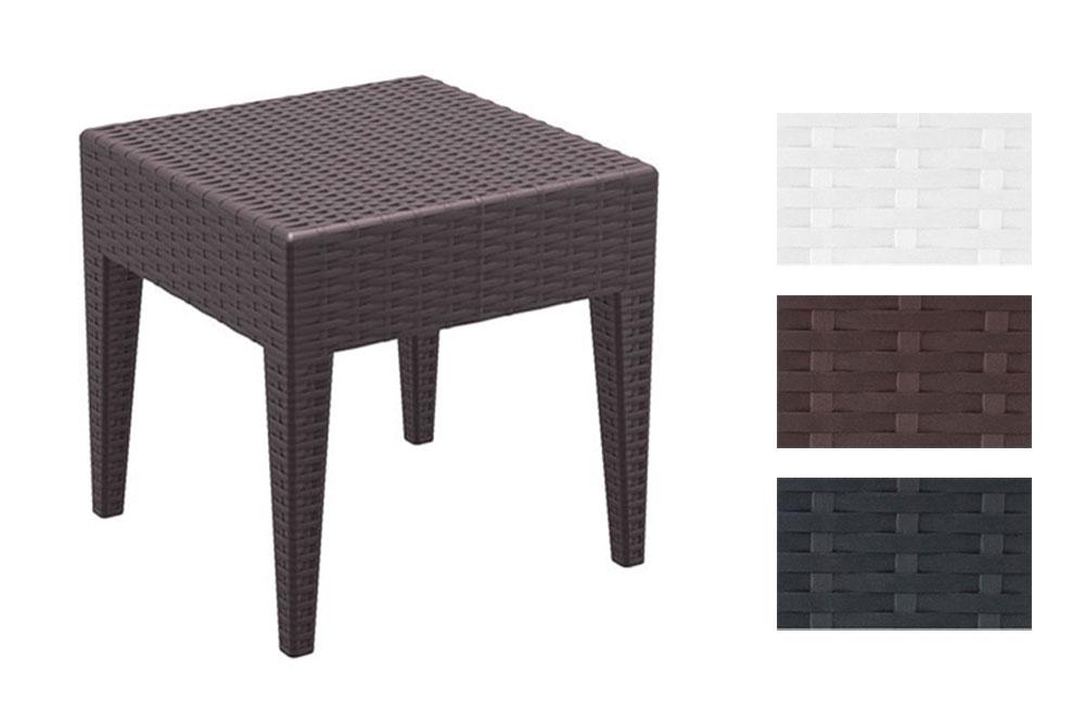 Garten Beistell-Tisch MIAMI 45 x 45 cm Vollkunststoff hochwertige ...