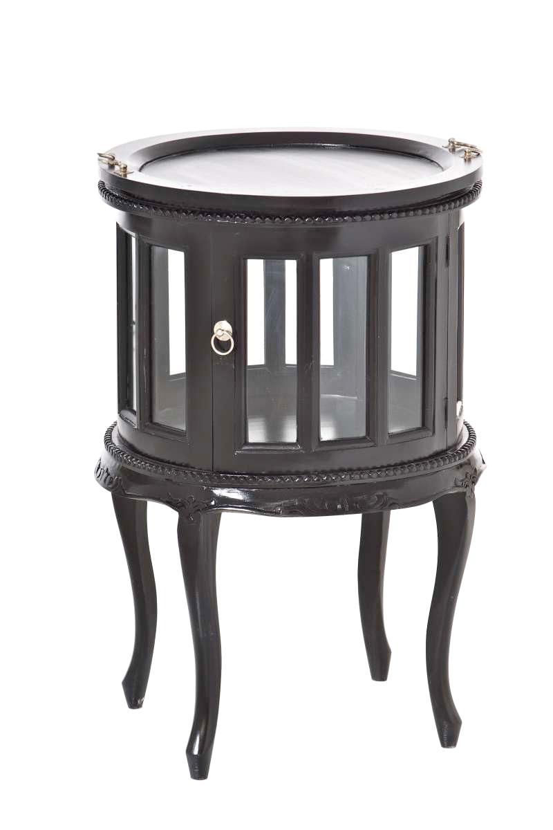 runder teetisch mahagoni beistelltisch vitrinentisch. Black Bedroom Furniture Sets. Home Design Ideas