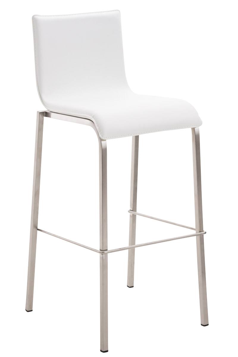 Chaise bar avola e78 similicuir tabouret design acier for Chaise un pied