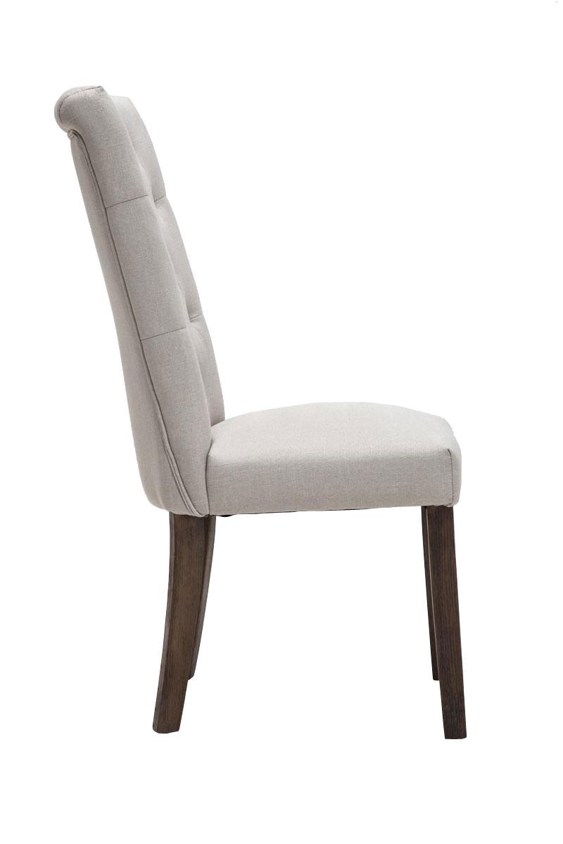 Chaise salle manger emden fauteuil tissu rembourr for Chaise de salle a manger haut dossier