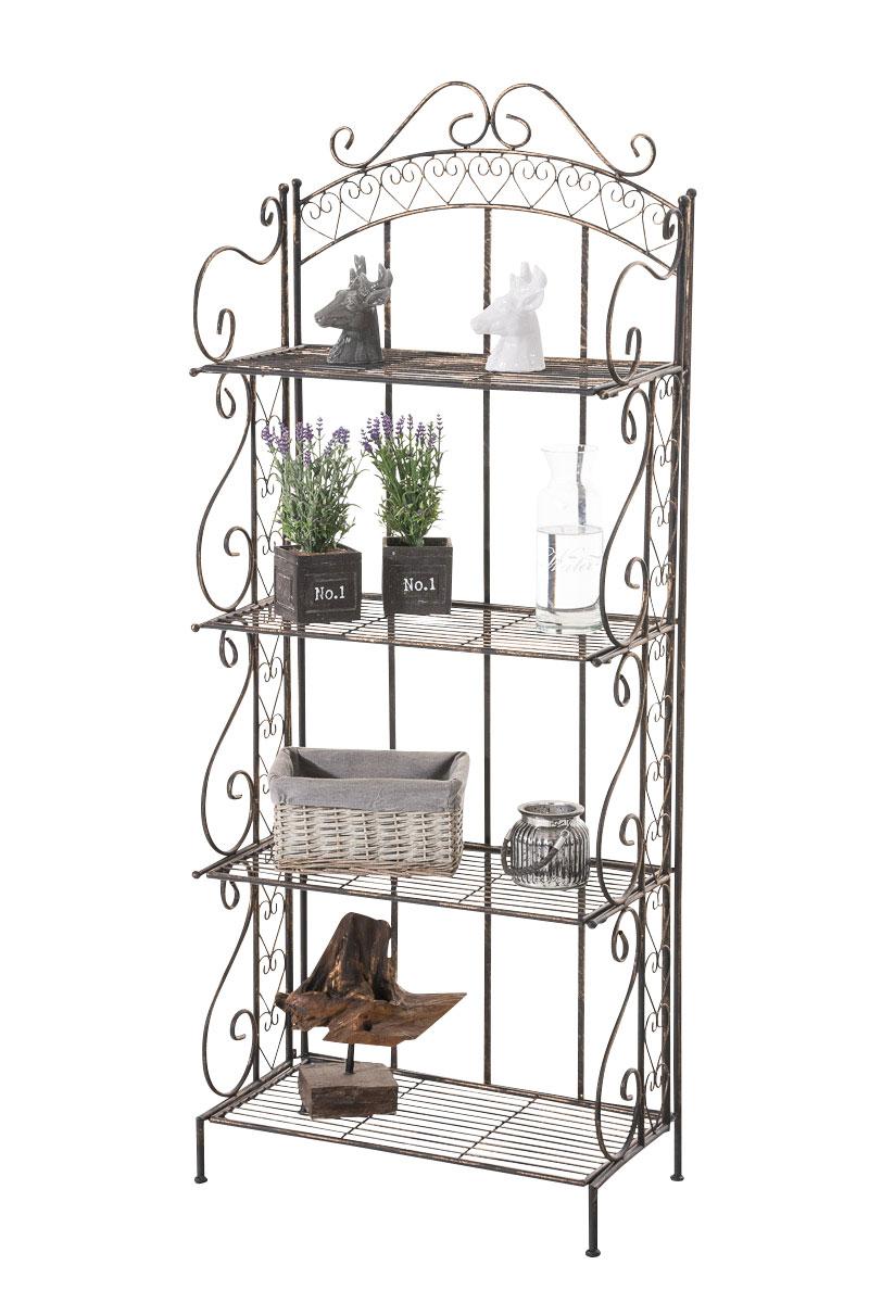 standregal antje gartenregal klappregal eisen regal metall wandregal jugendstil ebay. Black Bedroom Furniture Sets. Home Design Ideas