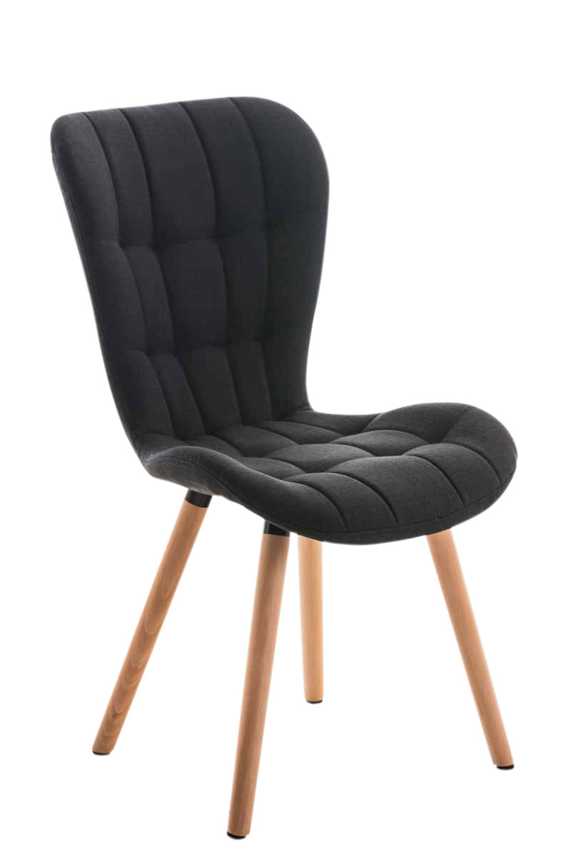 chaise salle manger elda fauteuil tissu bois cuisine lounge design scandinave ebay. Black Bedroom Furniture Sets. Home Design Ideas