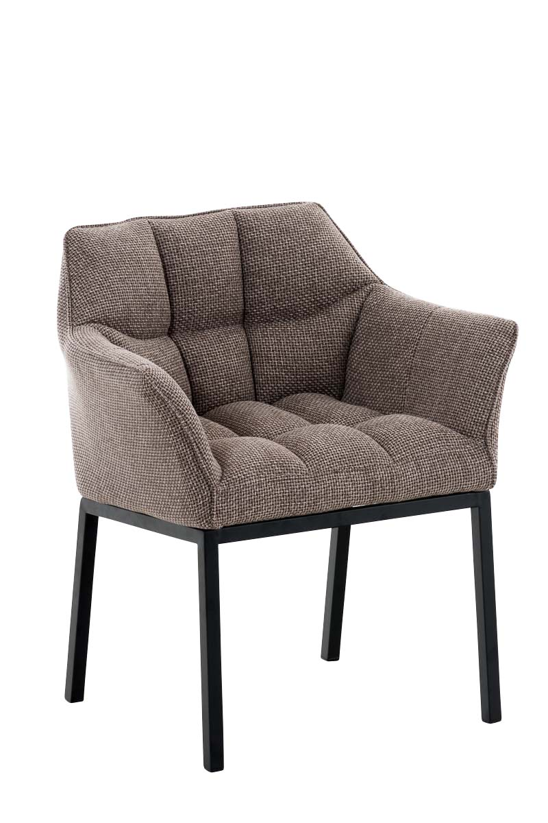 Chaise-de-salle-a-manger-OCTAVIA-rembourree-revetement-en-tissu-pieds-metal-noir