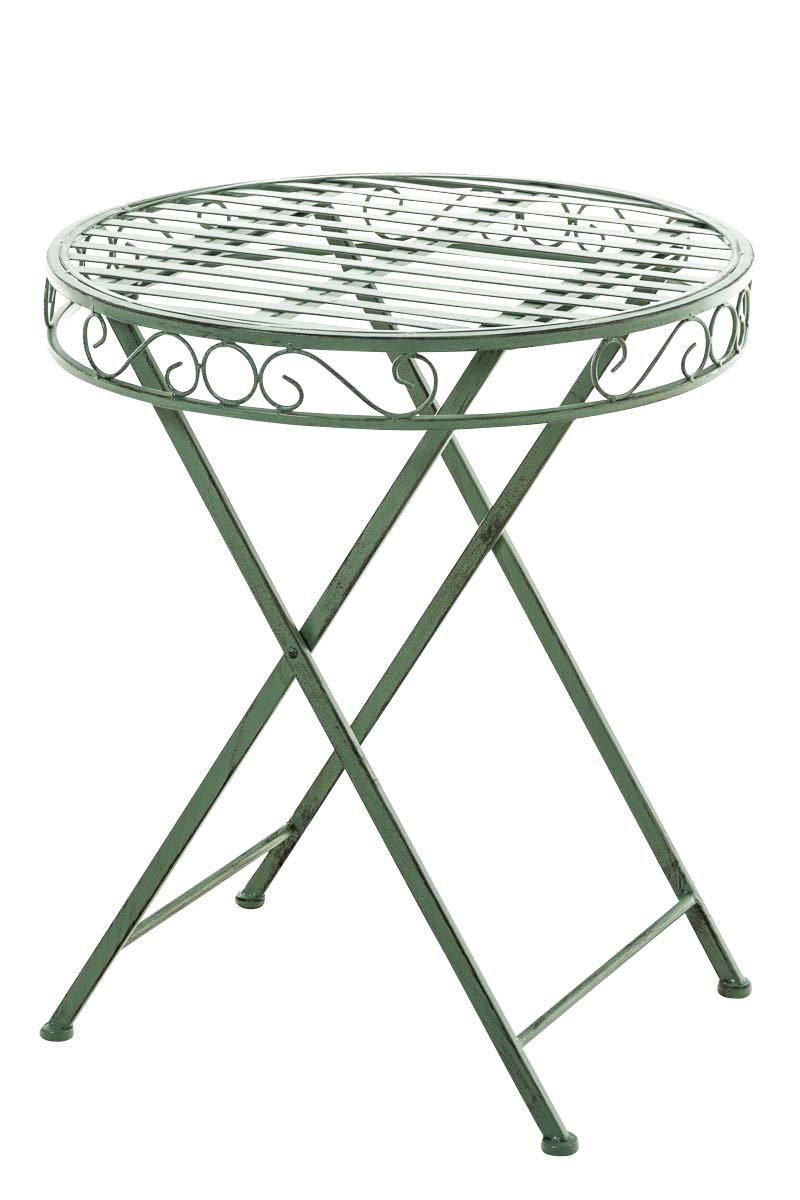 Table sulu ronde ext rieur m tal jardin balcon terrasse for Table metal exterieur