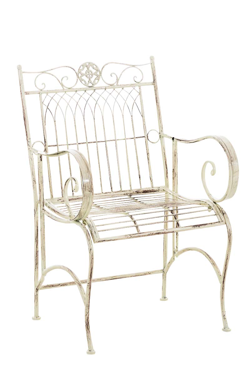 stuhl purusha eisen shabby chic gartenstuhl landhaus deko metallstuhl vintage ebay. Black Bedroom Furniture Sets. Home Design Ideas