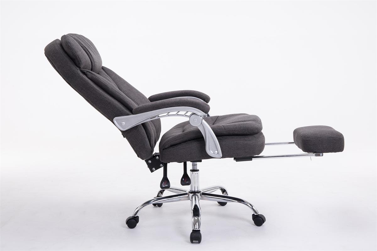 Fauteuil bureau xl troy tissu chaise ordinateur relaxation épais