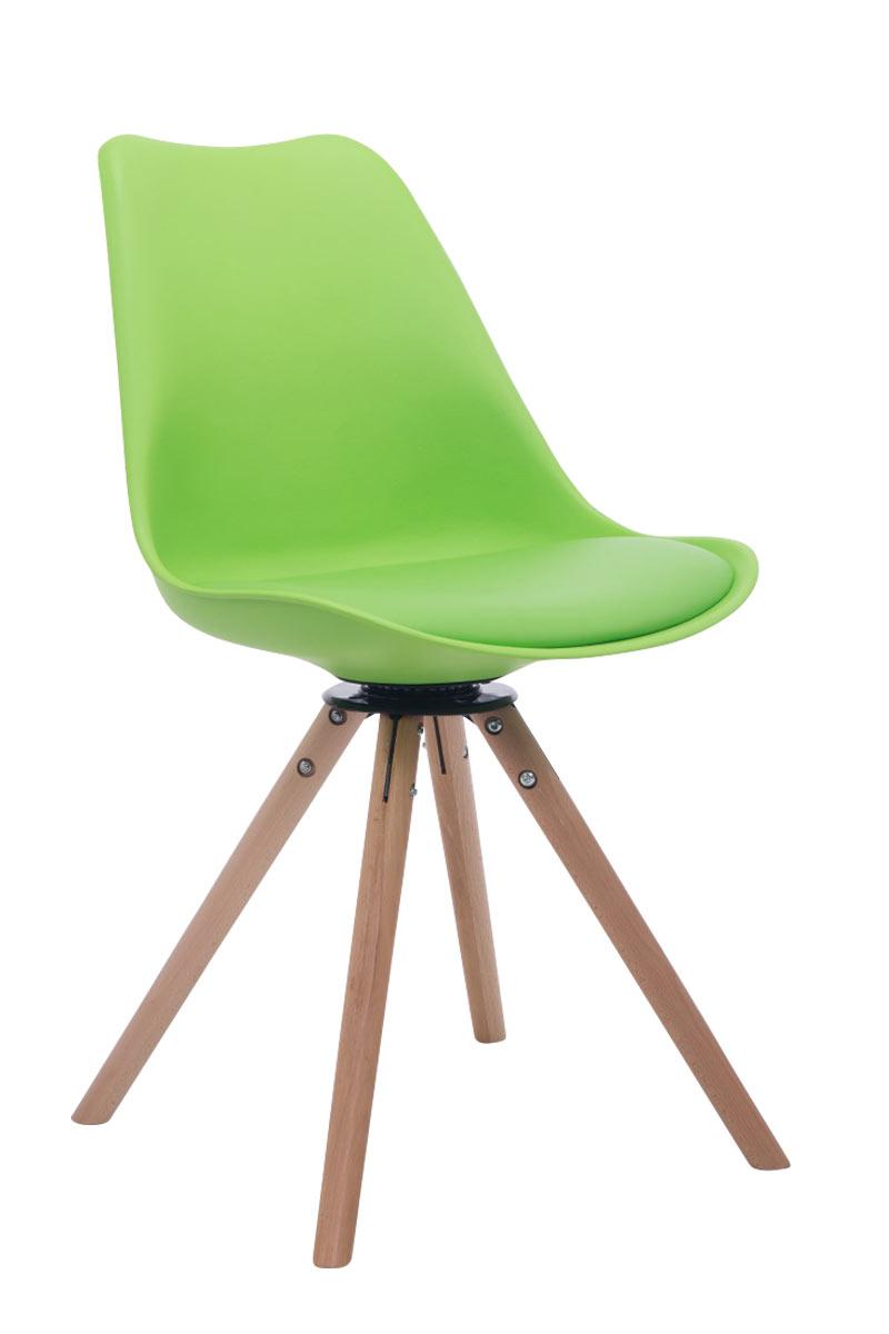 besucherstuhl troyes drehbar natura rund lehnstuhl esszimmerstuhl retro holz ebay. Black Bedroom Furniture Sets. Home Design Ideas