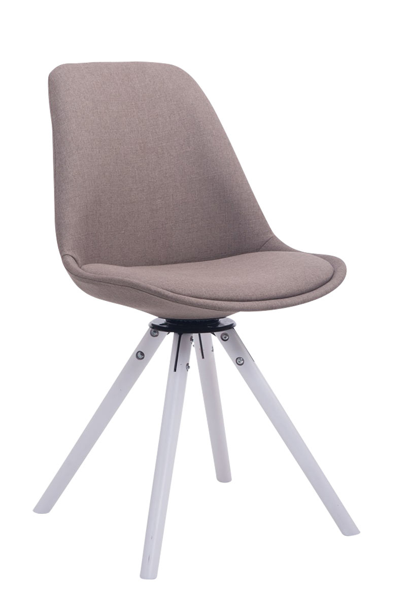 Chaise salle manger troyes rond fauteuil tissu design - Fauteuil rond pivotant ...