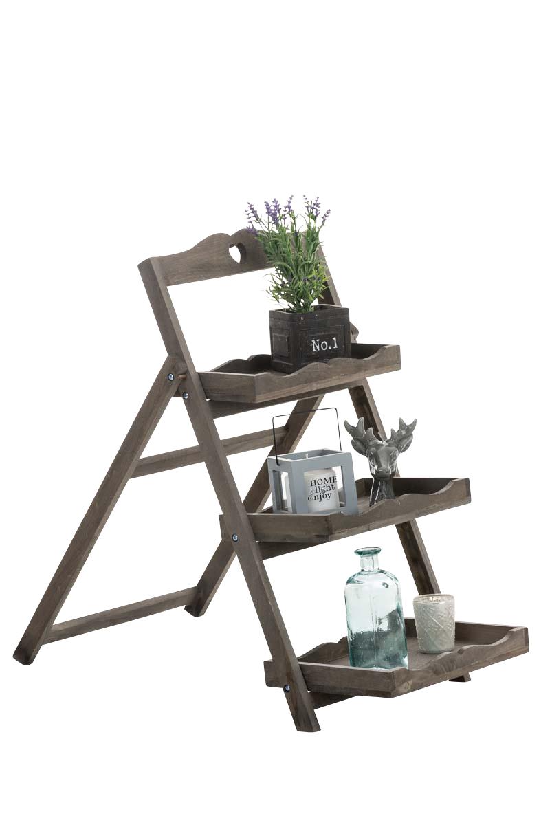 Holz treppenregal otto dekoregal klappbar stufenregal for Leiterregal holz