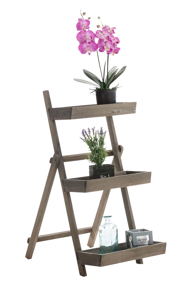 Treppenregal rita holz dekoregal klappbar stufenregal for Leiterregal holz