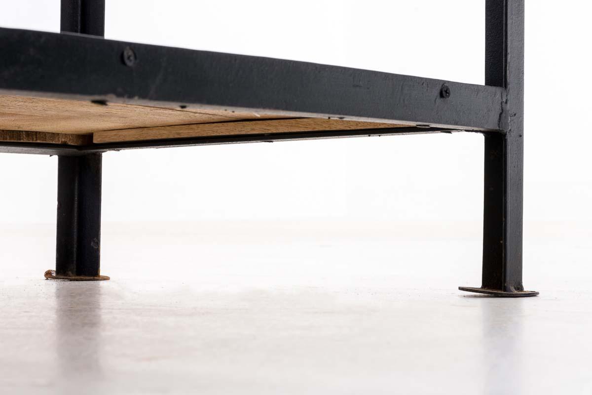 holz konsolentisch swami schwarz beistelltisch industrial design ablagetisch ebay. Black Bedroom Furniture Sets. Home Design Ideas