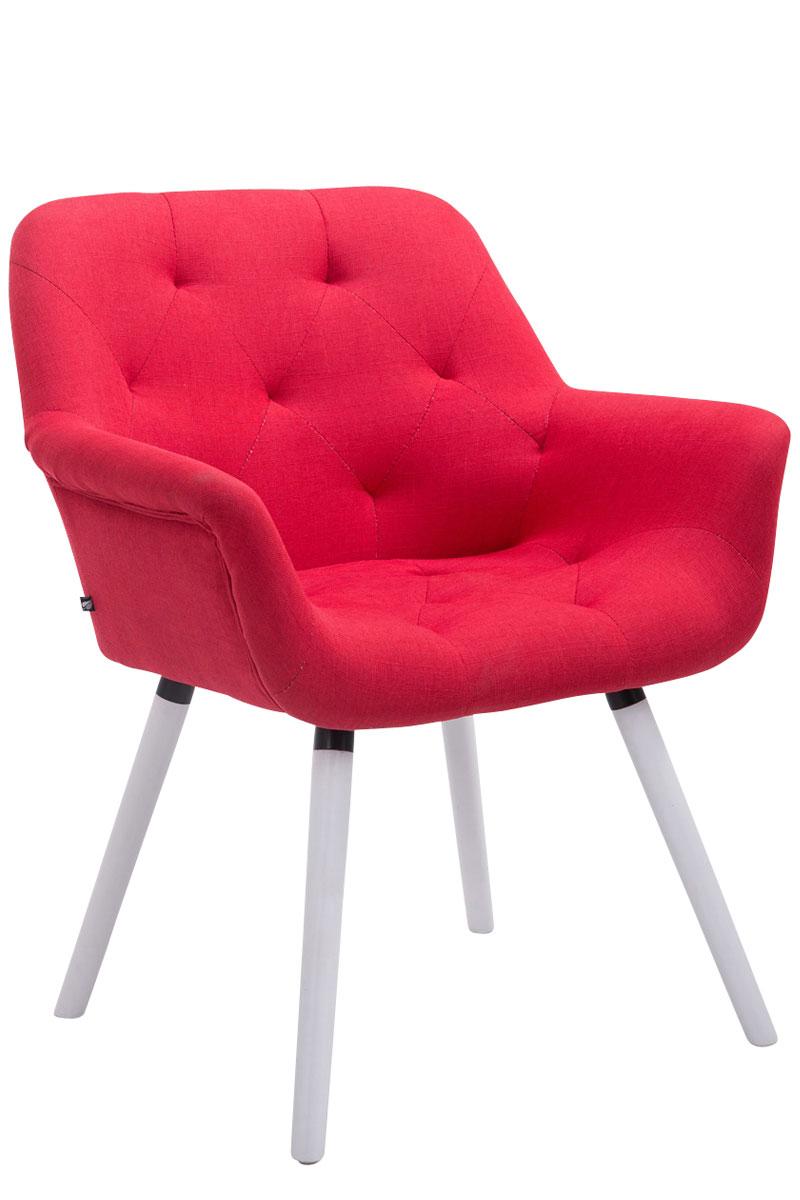 Chaise salle manger cassidy tissu visiteur cuisine - Chaise accoudoir tissu ...