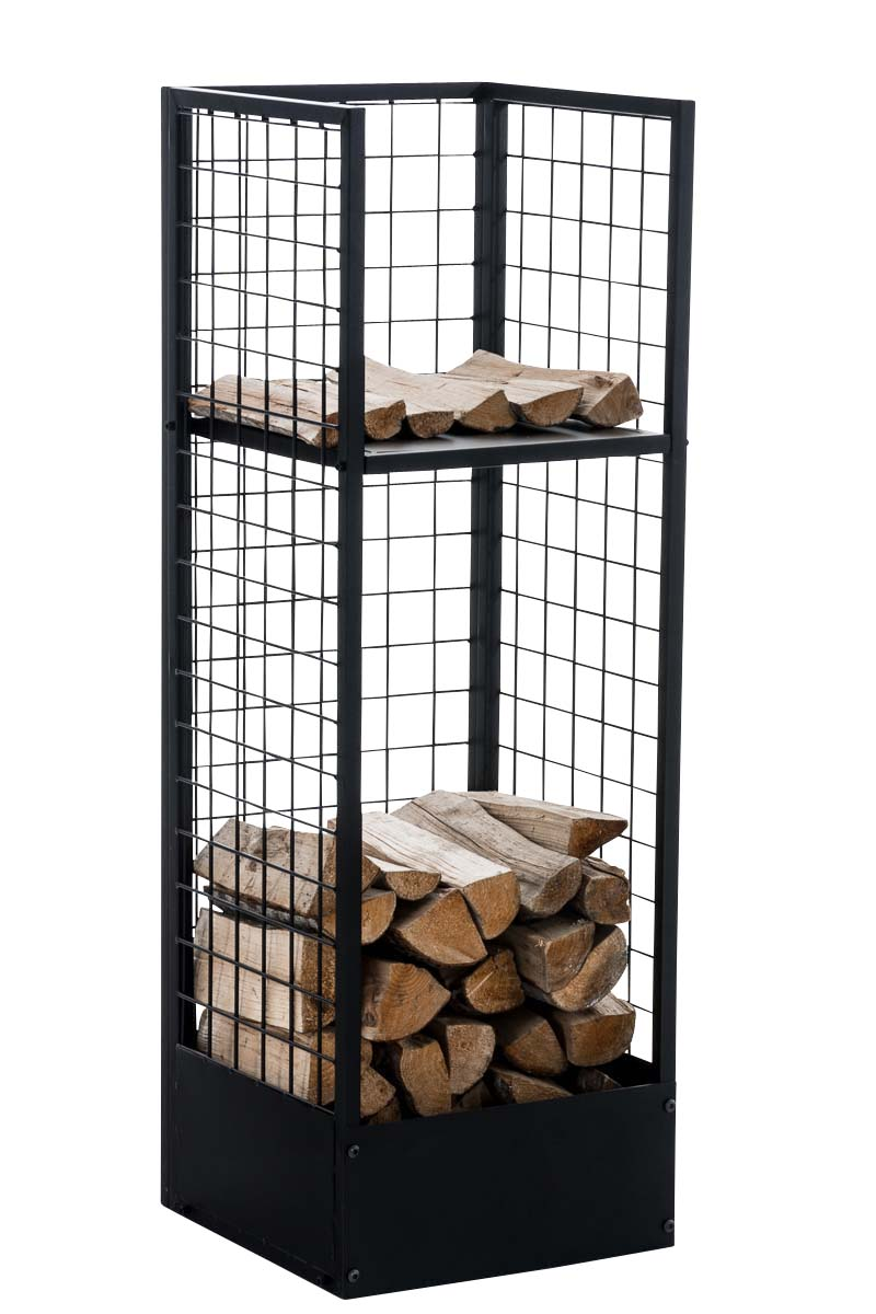 porte b che rangement bois chauffage forrest 40x40x120 m tal chemin e tag re ebay. Black Bedroom Furniture Sets. Home Design Ideas