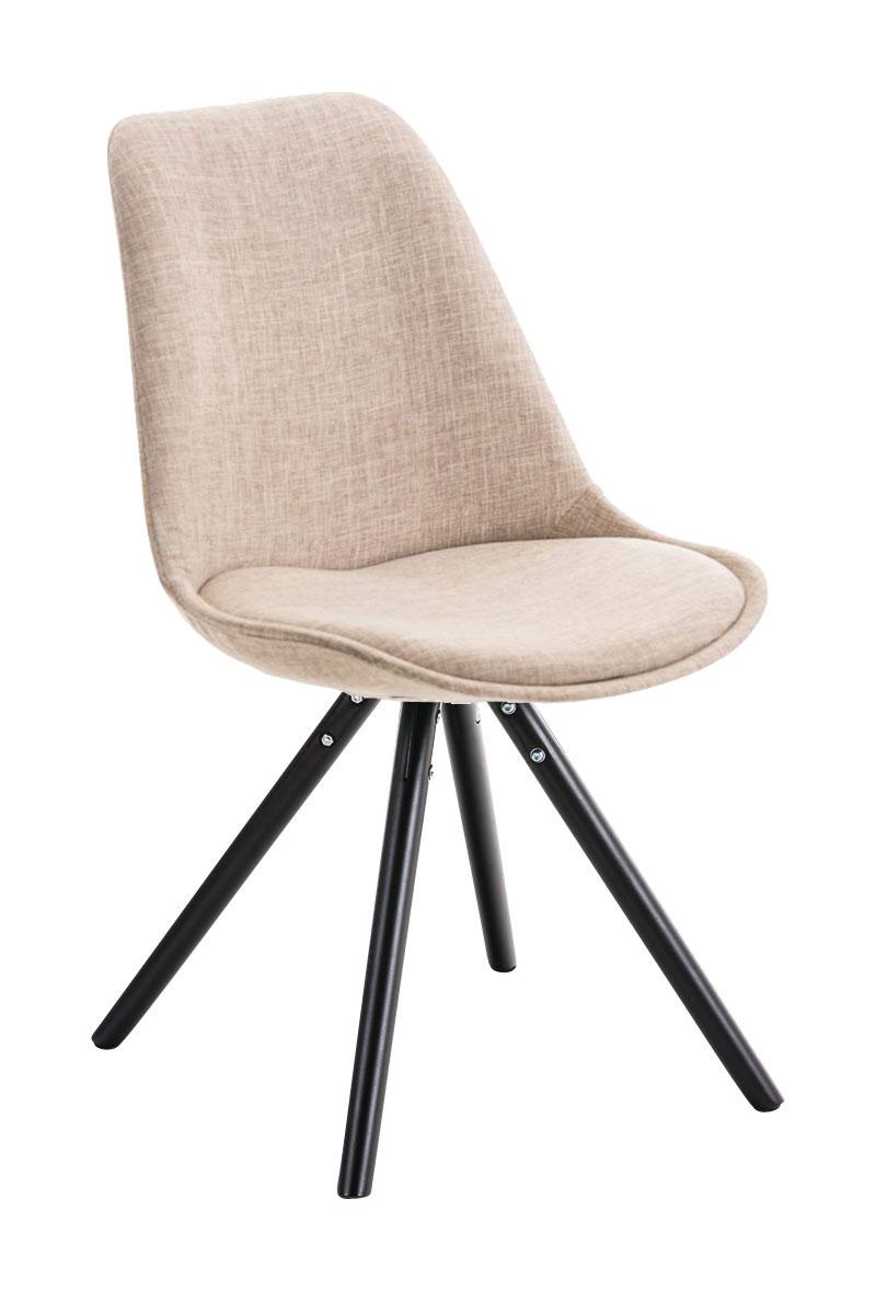 chaise visiteur pegleg noir cuisine bois fauteuil tissu. Black Bedroom Furniture Sets. Home Design Ideas
