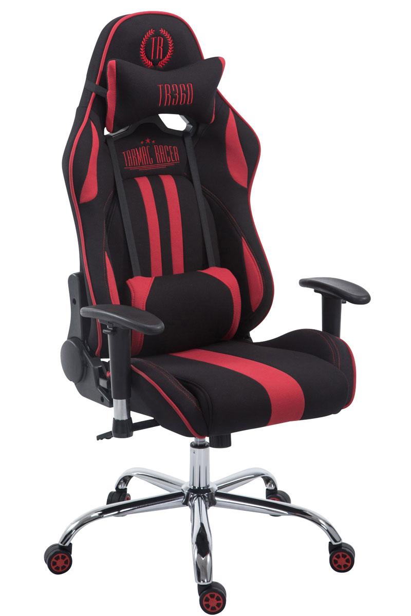 Chaise bureau racing limit tissu repose jambes accoudoir - Chaise accoudoir tissu ...