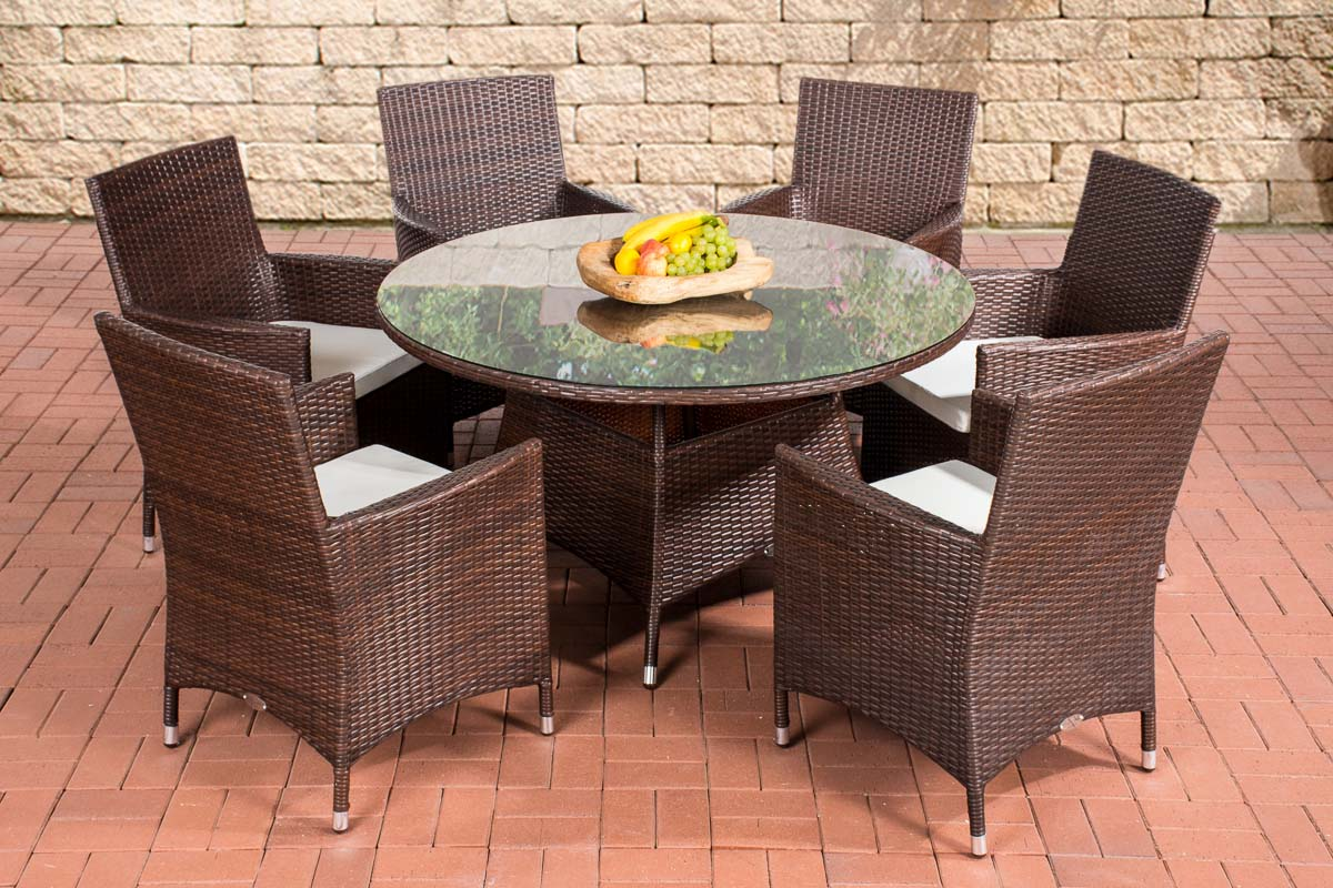 polyrattan sitzgruppe venezuela gartenm bel st hle tisch gartenset sitzgarnitur ebay. Black Bedroom Furniture Sets. Home Design Ideas