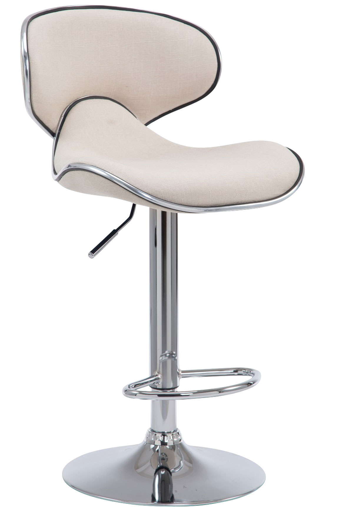 Barhocker las vegas v2 stoff barstuhl stuhl chromgestell for Stuhl hocker