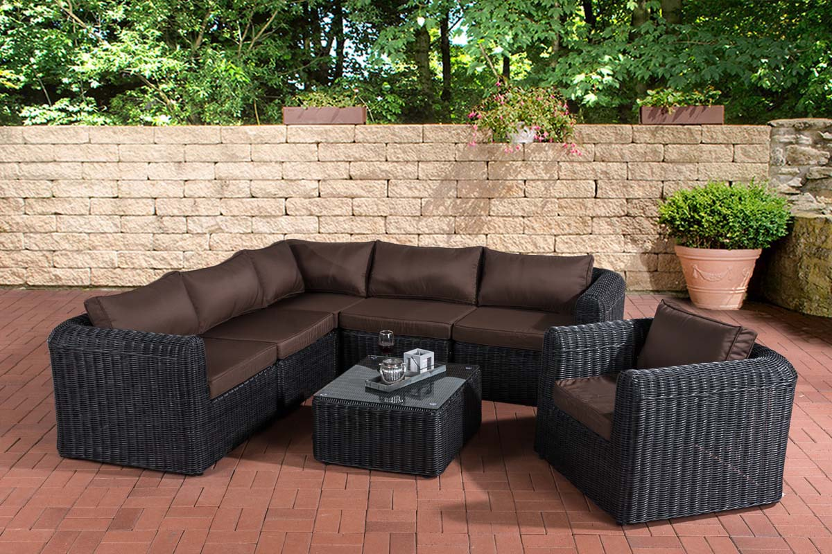 polyrattan gartengarnitur marbella gartenset sitzgruppe lounge set rattanm bel ebay. Black Bedroom Furniture Sets. Home Design Ideas