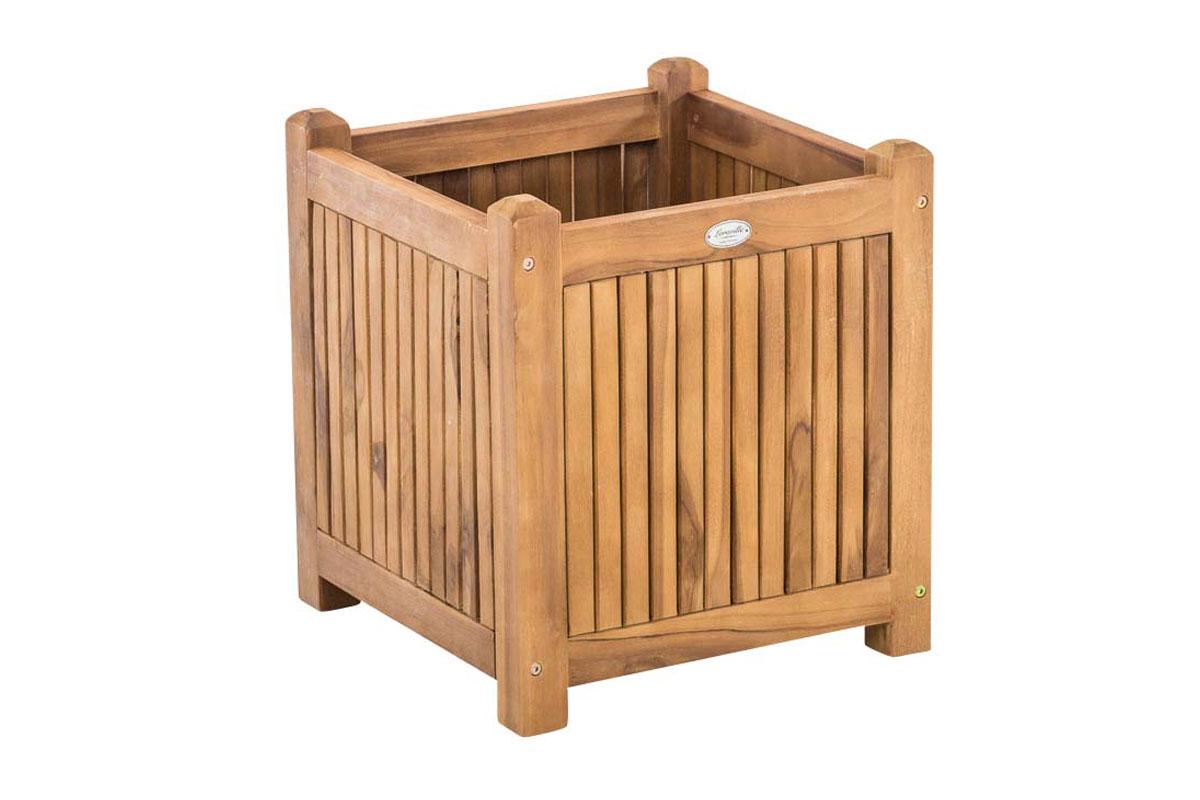 bac plantes carr e en bois de teck bac fleur pour jardin mod le au choix ebay. Black Bedroom Furniture Sets. Home Design Ideas