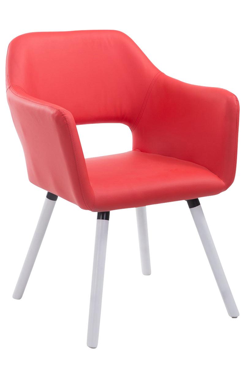 Chaise visiteur auckland similicuir bois design scandinave for Chaise visiteur